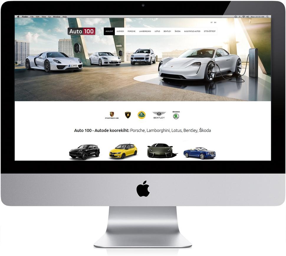 Auto 100 veebilehekülg